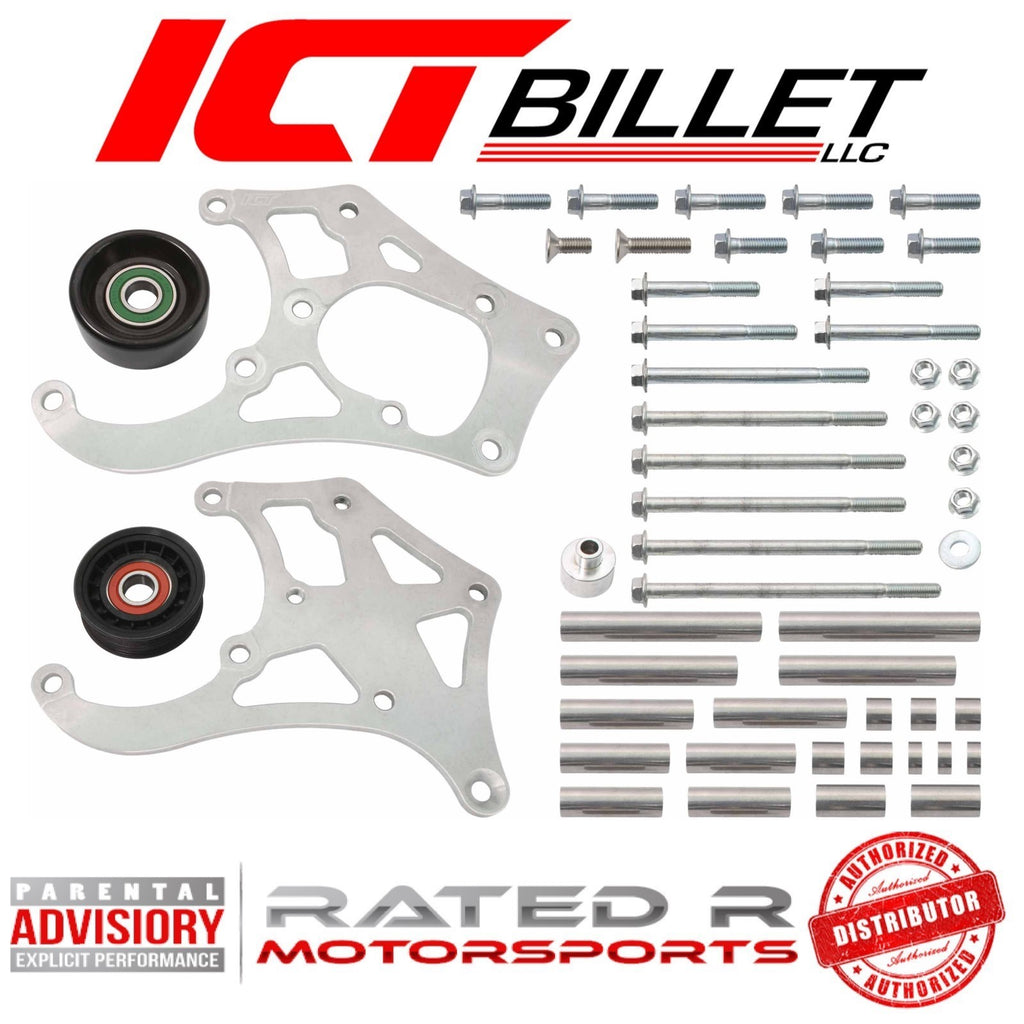 ICT Billet LS Truck Sanden 508 SUV A/C Air Conditioner Compressor Bracket Kit