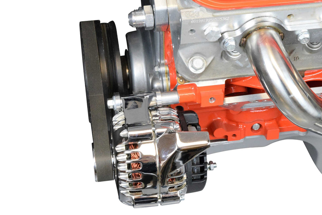 ICT Billet LS F Body Spacing LS1 Drivers Side Alternator Only Bracket (for Electric or Remote Water Pump)