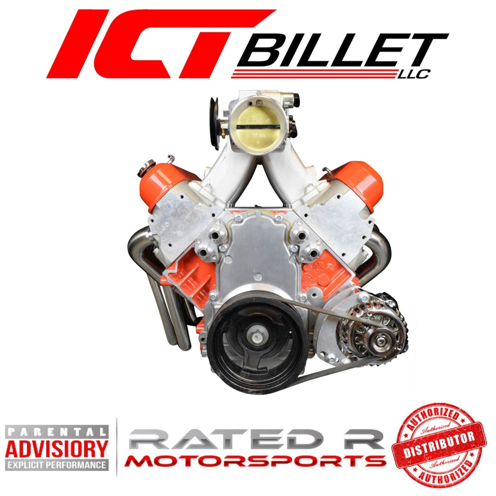 ICT Billet LS Truck Spacing Drivers Side Low Mount Alternator Only Bracket For Electric Water Pump