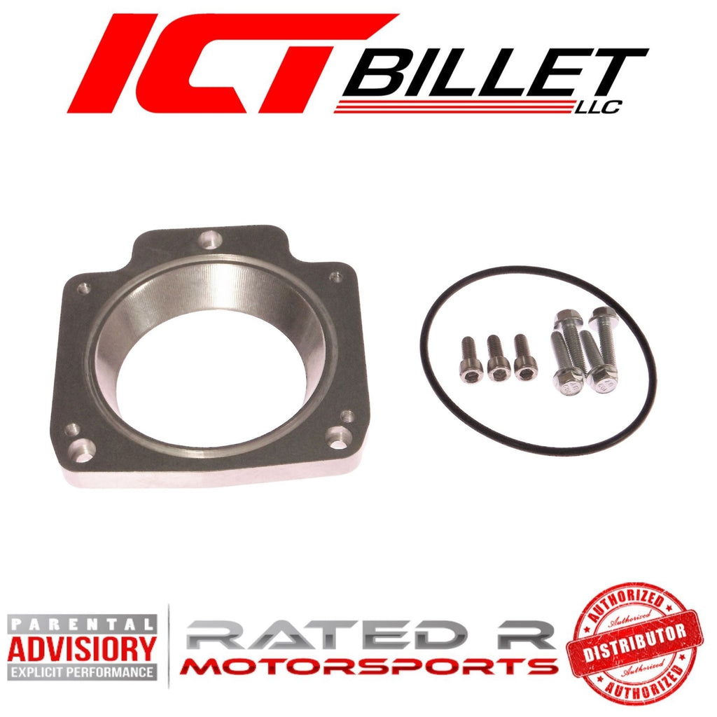 ICT Billet LS Throttle Body Adapter 3 Bolt Intake Manifold to 4 Bolt Throttle Body