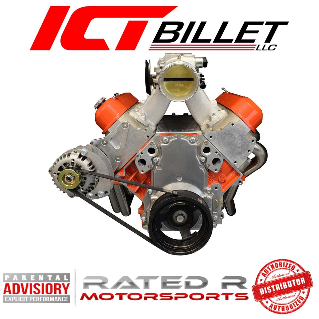 ICT Billet BBC Electric Water Pump to LS Engine Adapter Plates