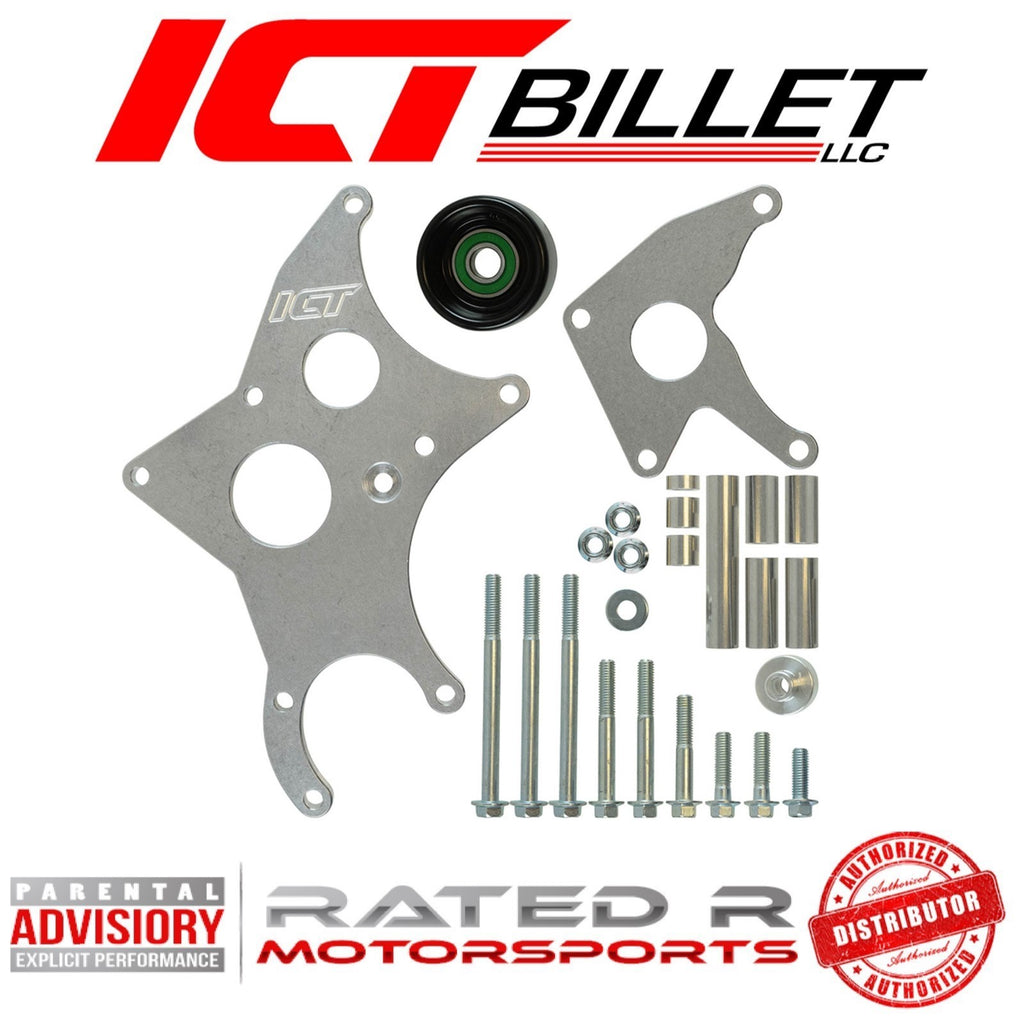 ICT Billet LS Truck Spacing Driver Side Alternator and Power Steering Pump Bracket