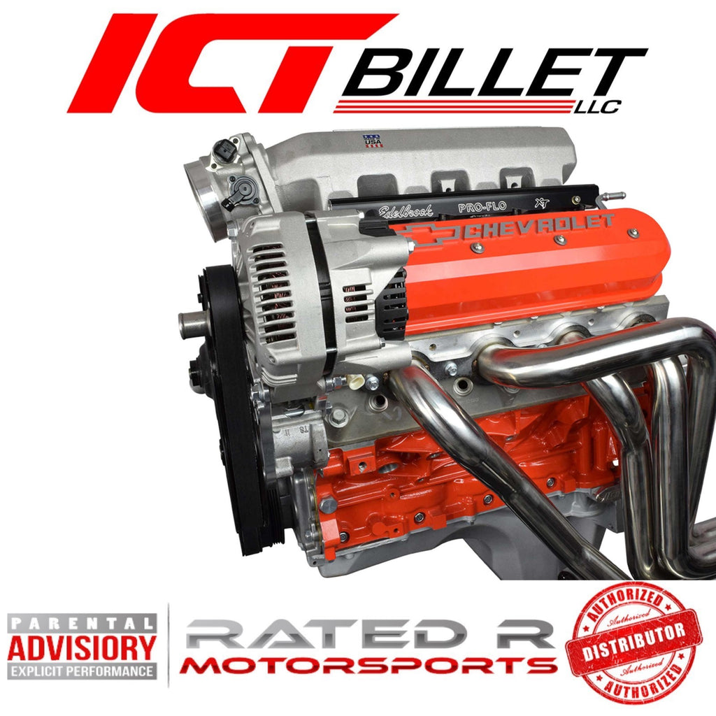 ICT Billet LS Corvette Spacing Alternator & Power Steering Pump Bracket Kit