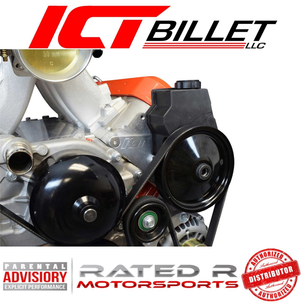 ICT Billet LS F Body Spacing LS1 Power Steering Pump Bracket Kit