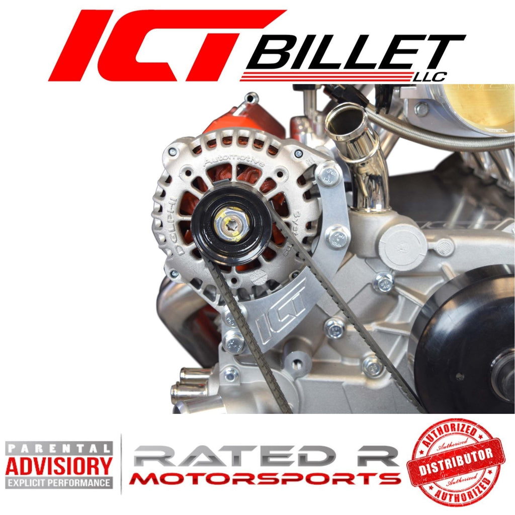 ICT Billet LS Truck Spacing Passenger Side Alternator Relocation Bracket