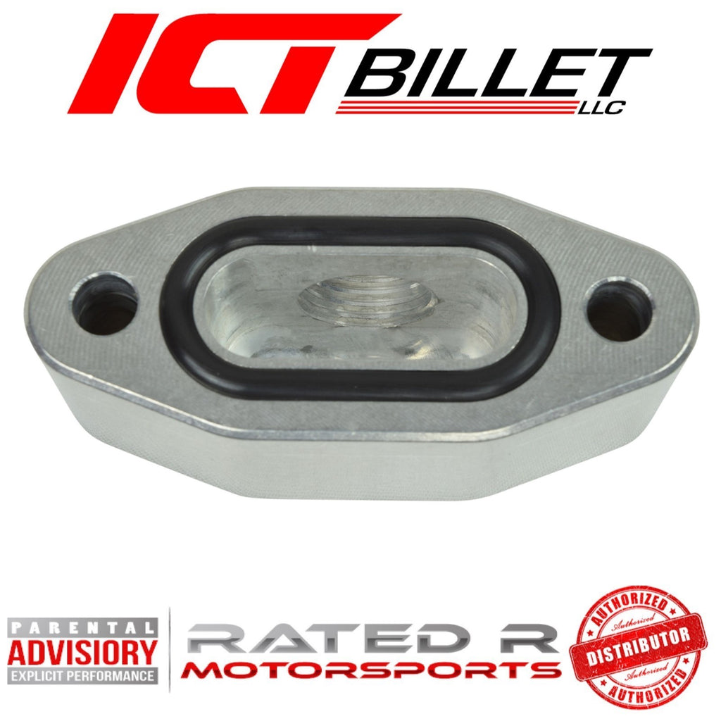 ICT Billet Oil Pan Oil Pressure Sensor Relocation Adapter
