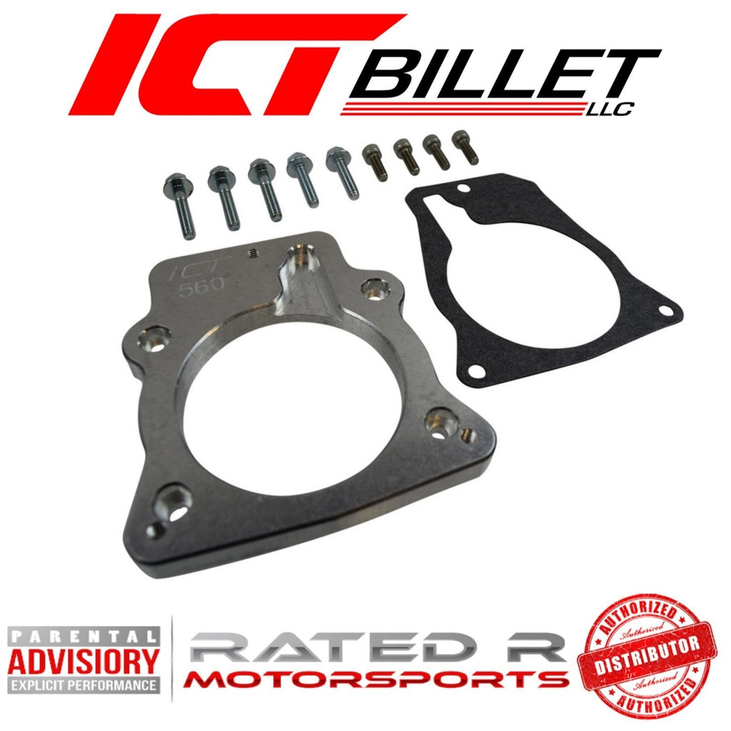 ICT Billet LS4 Intake Manifold to LS1 DBW DBC 3 Bolt Throttle Body Adapter Plate