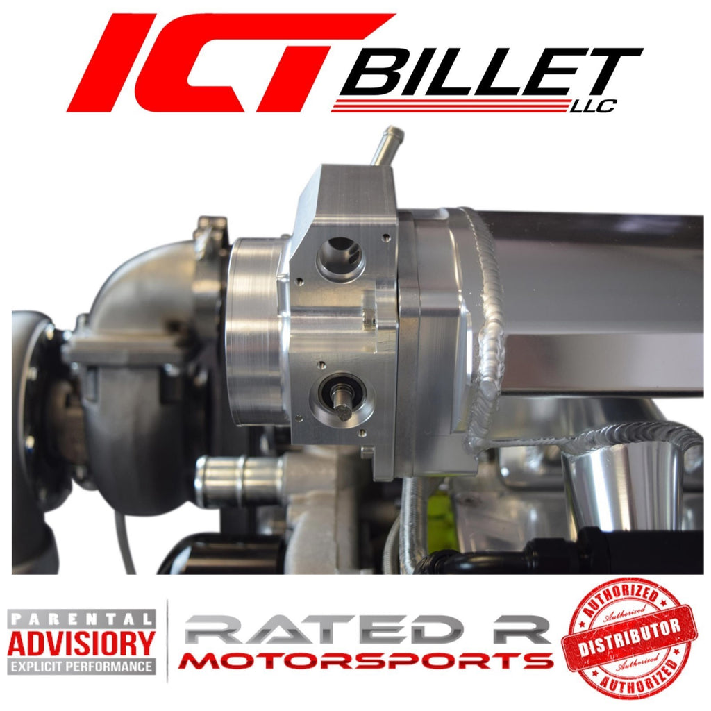 ICT Billet LS 92mm Throttle Body to 102mm Intake Manifold 4 Bolt Throttle Body Adapter