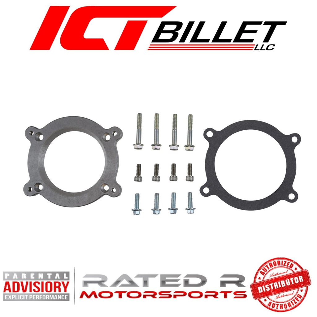 ICT Billet LS4 Intake Manifold to LS3 DBW 4 Bolt Throttle Body Adapter Plate