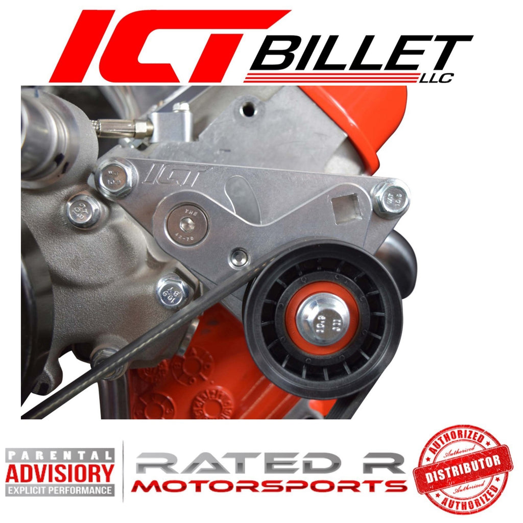 ICT Billet LS Corvette Spacing High Mount Billet Manual Belt Tensioner