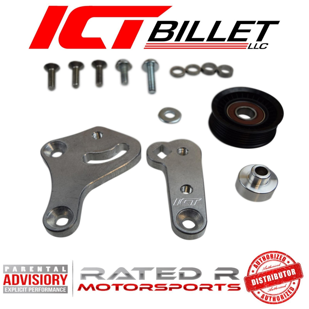 ICT Billet LS Corvette Spacing Billet Aluminum Manual Belt Tensioner