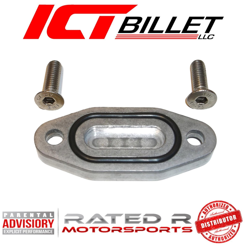 ICT Billet Oil Pan Oil Cooler Delete Plate