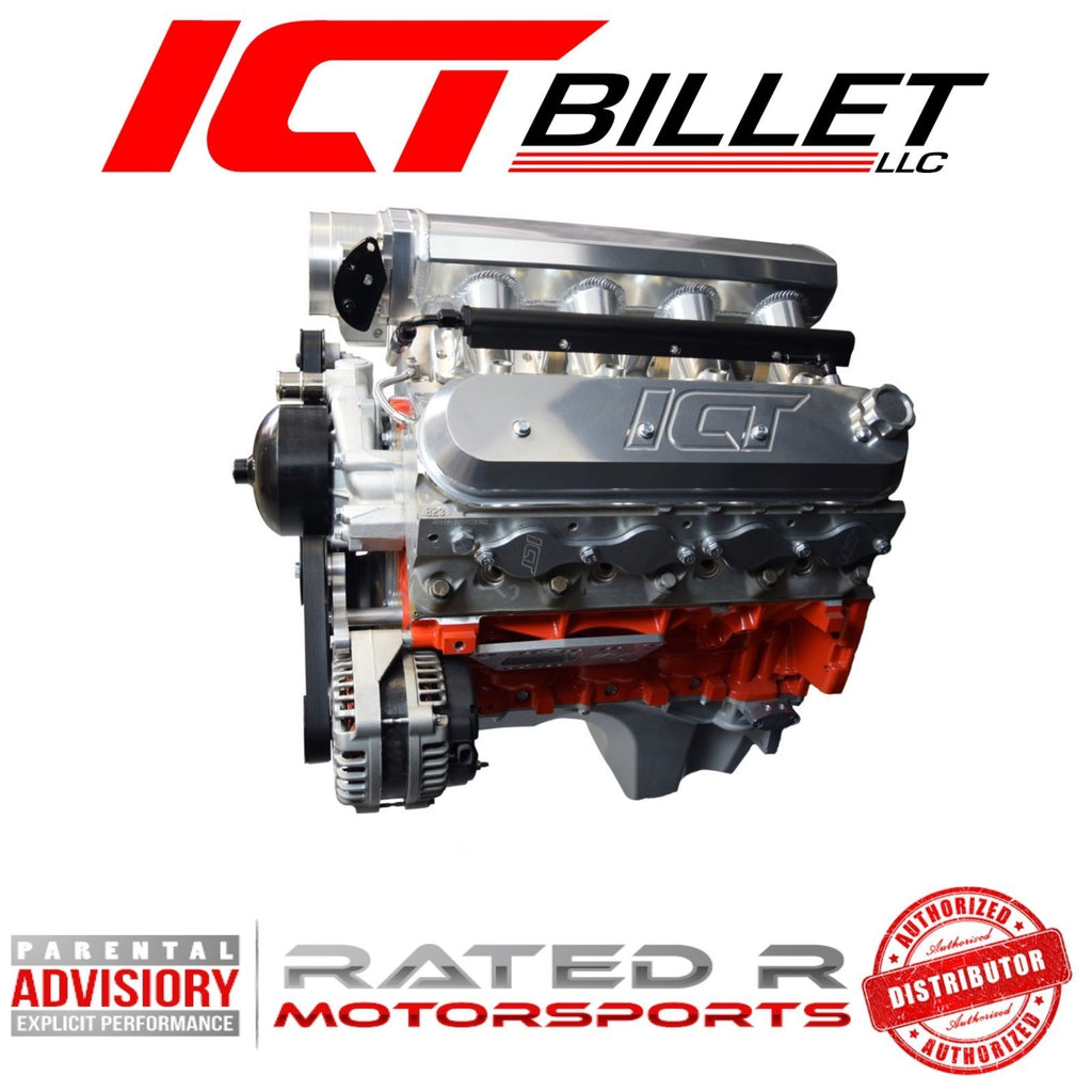 ICT Billet LS Corvette Spacing Billet Alternator Bracket Low Mount