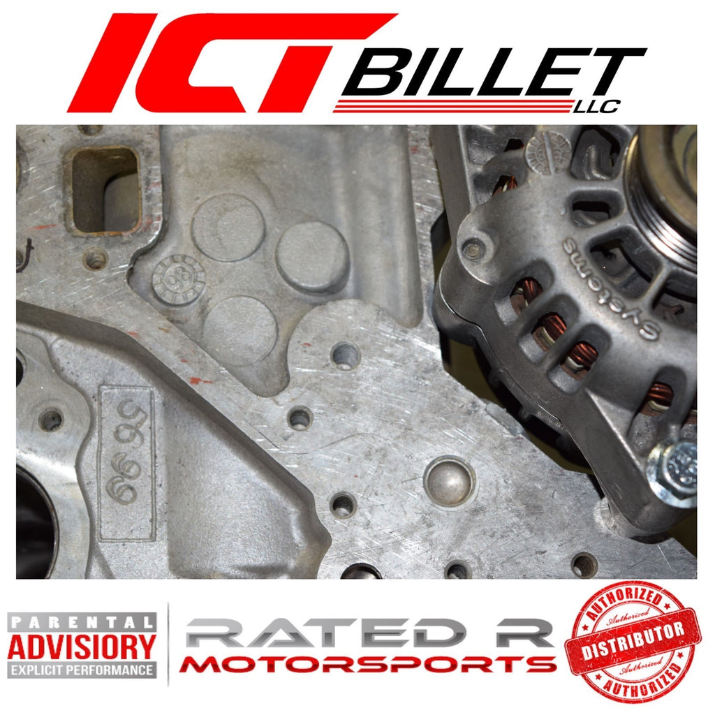 ICT Billet LS Corvette Spacing Low Mount Alternator & Power Steering Pump Brackets