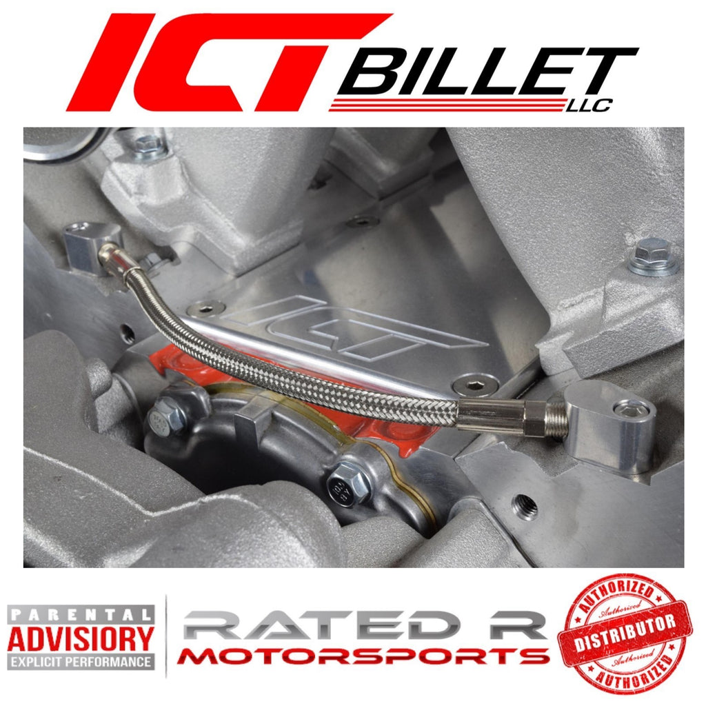 ICT Billet LS Coolant Steam Port Crossover Hose Kit LS1 Throttle Body Bypass