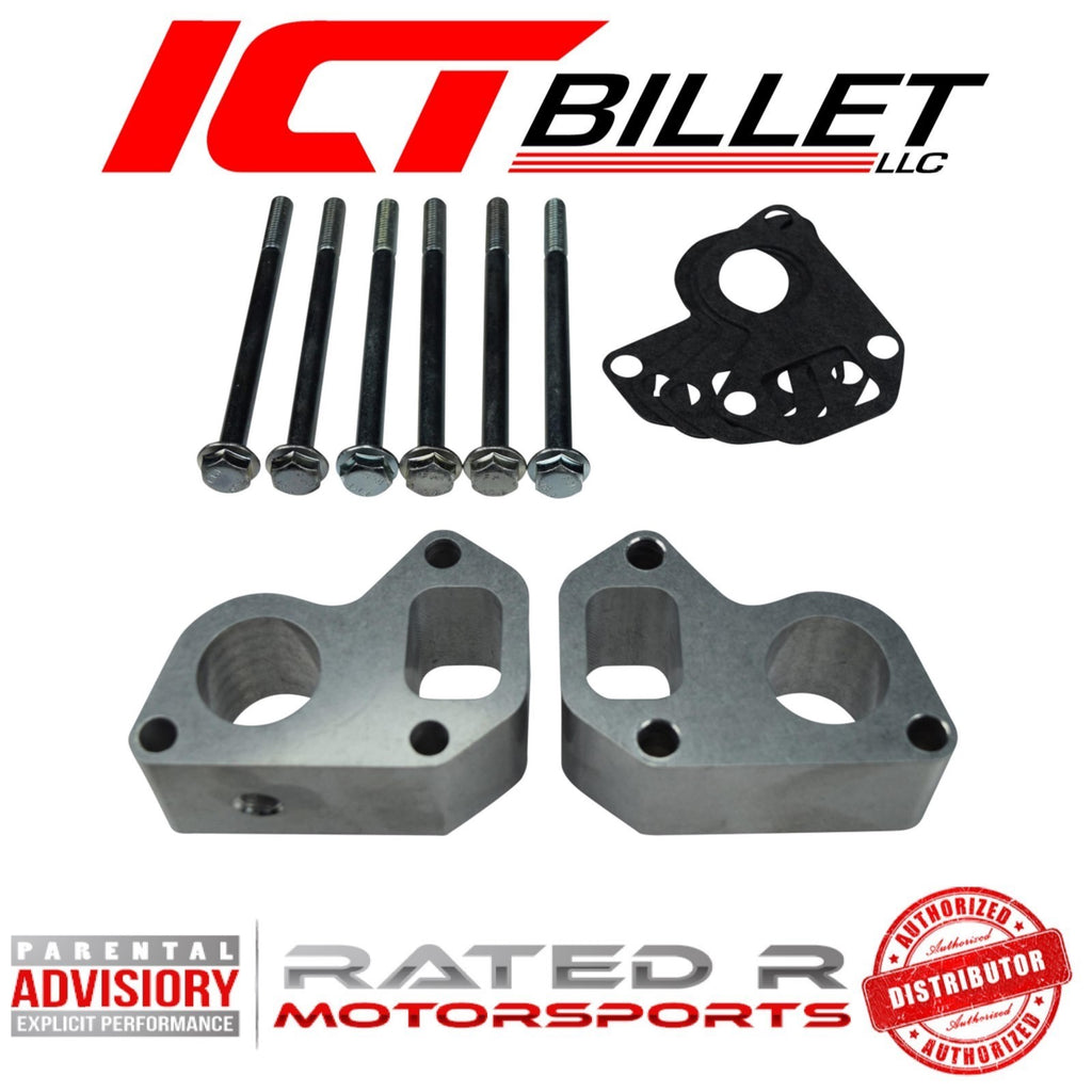 "ICT Billet LS 1.50"" Water Pump Spacer Kit For Corvette Water Pump on LS Truck or LS3 L99 Camaro"