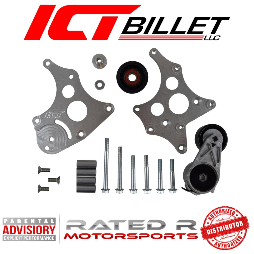 ICT Billet LS Corvette Spacing Alternator Bracket Kit