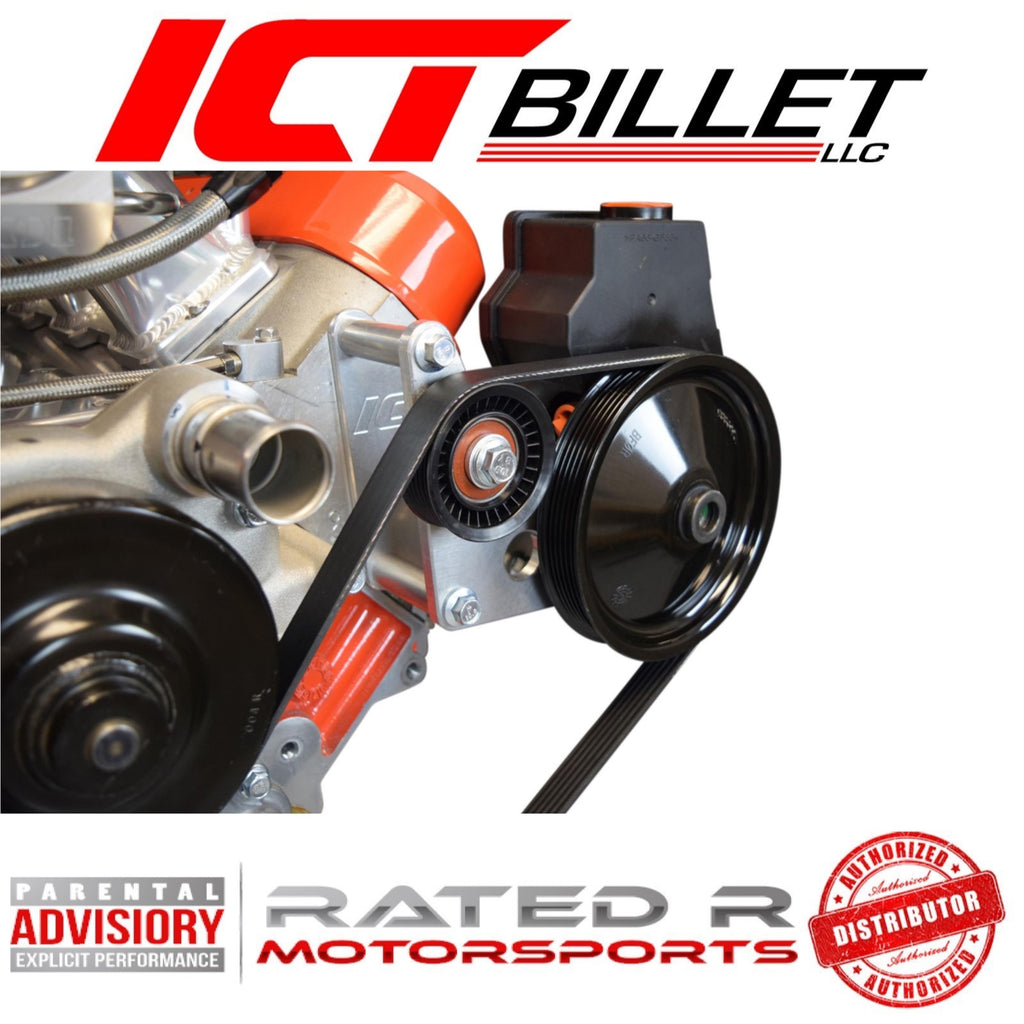 ICT Billet LS Corvette Spacing Power Steering Bracket Kit
