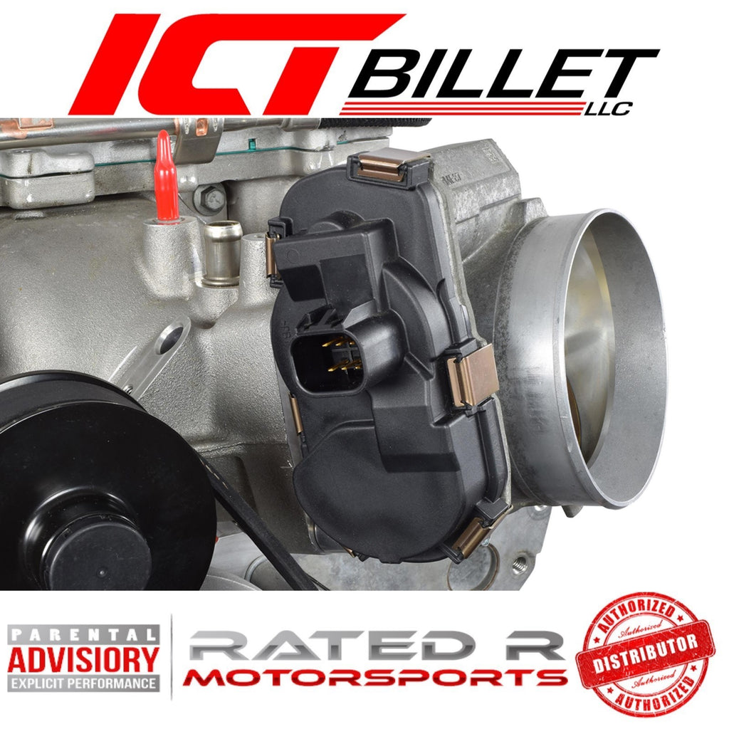 ICT Billet 1 Inch LS Throttle Body Spacer Adapter 4 Bolt TB DBW