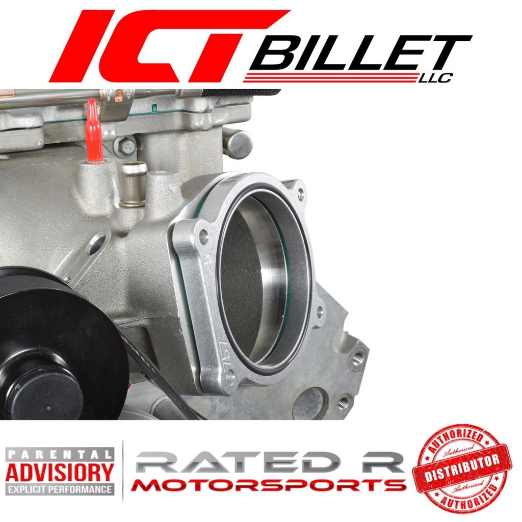 ICT Billet 1/2 Inch LS Throttle Body Spacer Adapter 4 Bolt TB DBW