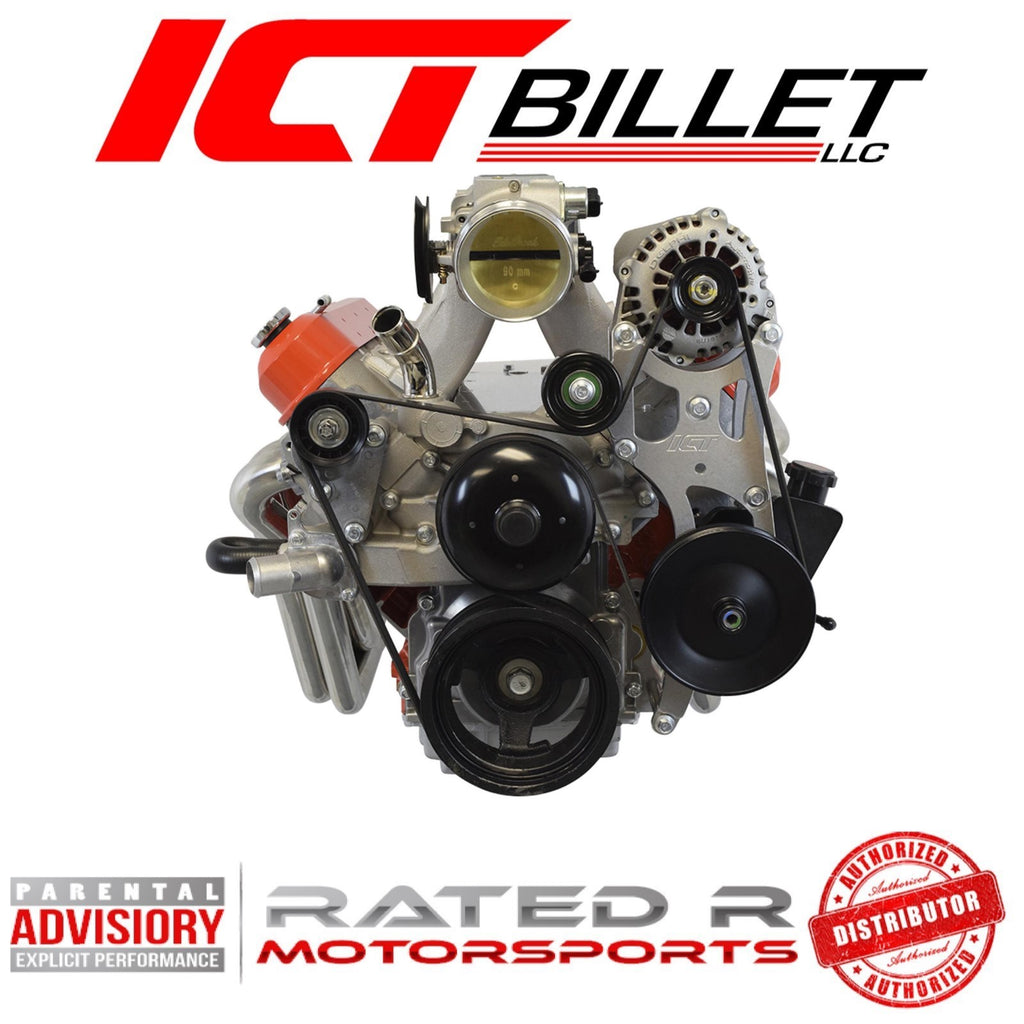 ICT Billet LS Truck Spacing OEM Location Alternator and Power Steering Bracket