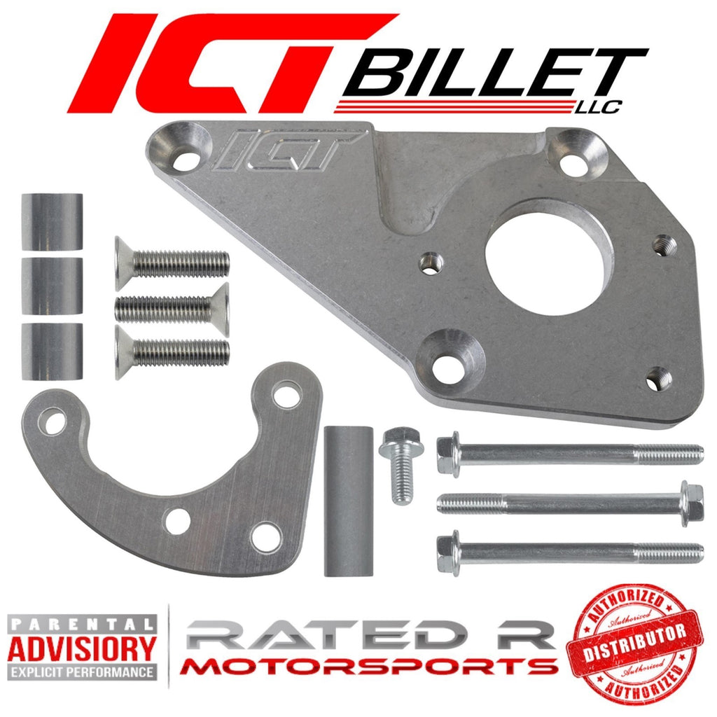 ICT Billet LS F Body Spacing LS1 1998-2002 Camaro Power Steering Pump Bracket Kit