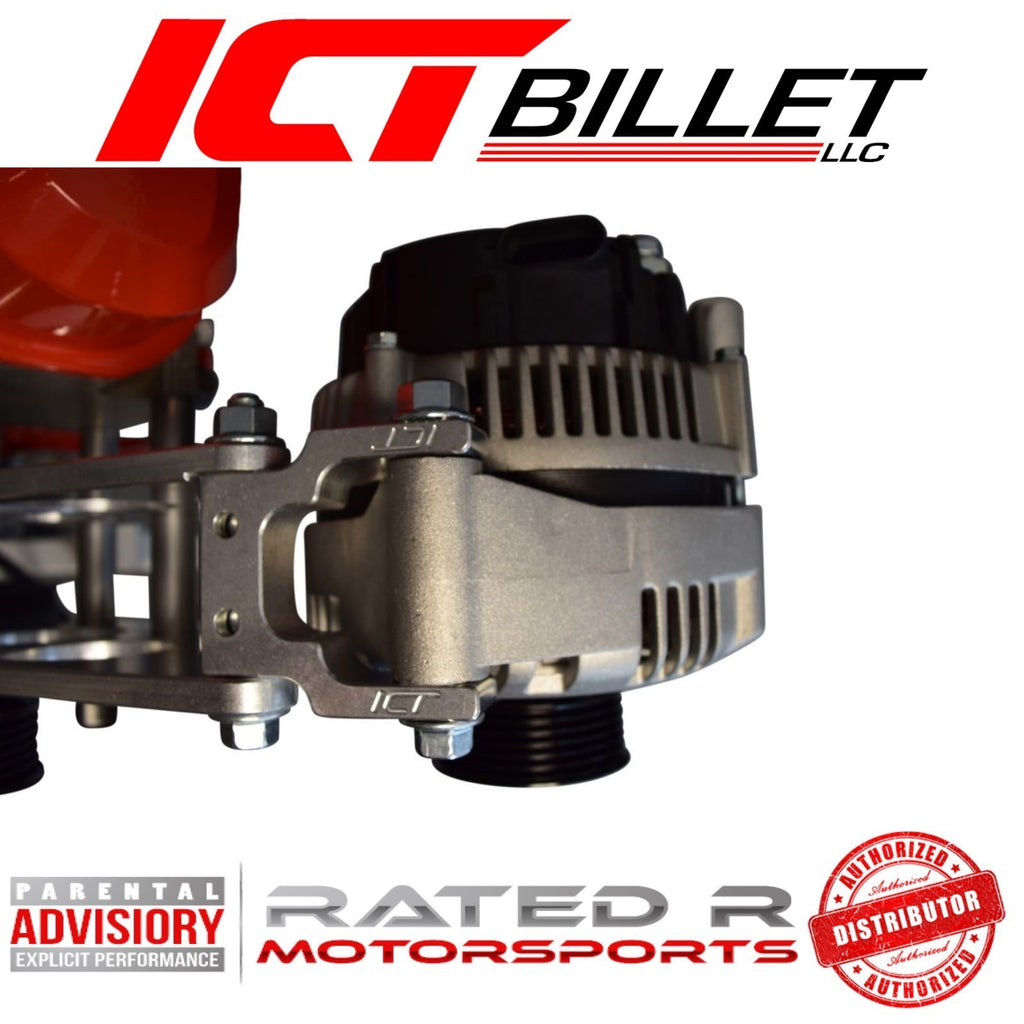 ICT Billet LS Corvette Spacing Alternator Adapter Extension Bracket (Camaro LS3 L99)