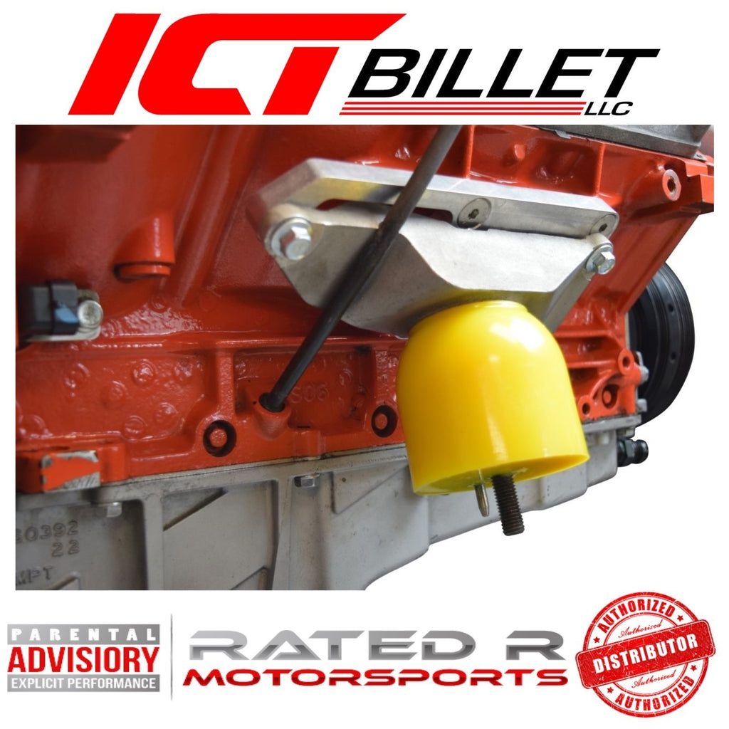 ICT Billet CTS V to Truck Engine Block Mount Adapter CTS-V Swap Plates