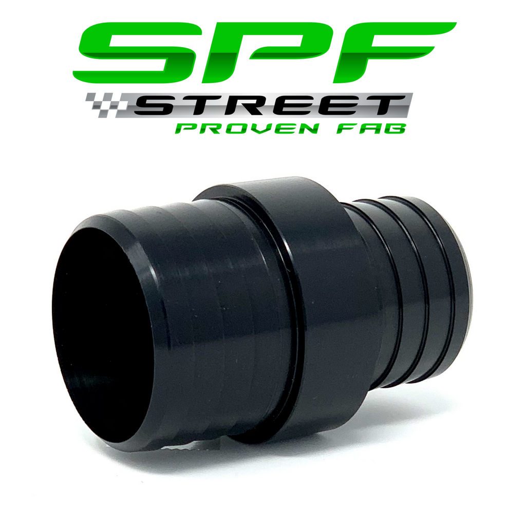 "Street Proven Fab Radiator Hose Adapter 1 1/4"" to 1 1/2"" NO PORT BLACK"