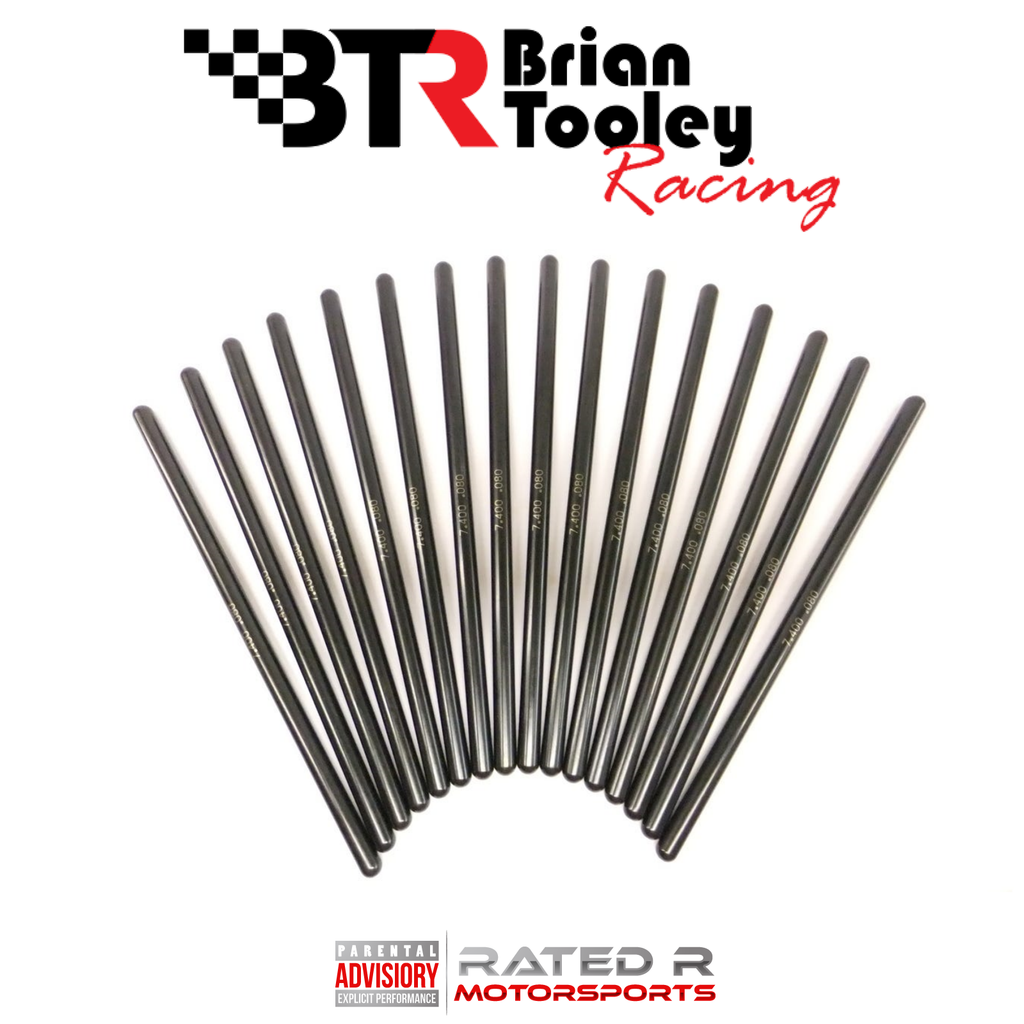 "Brian Tooley Racing Chromoly 5/16"" 7.400"" Hardened Pushrod Set LS STANDARD SIZE"