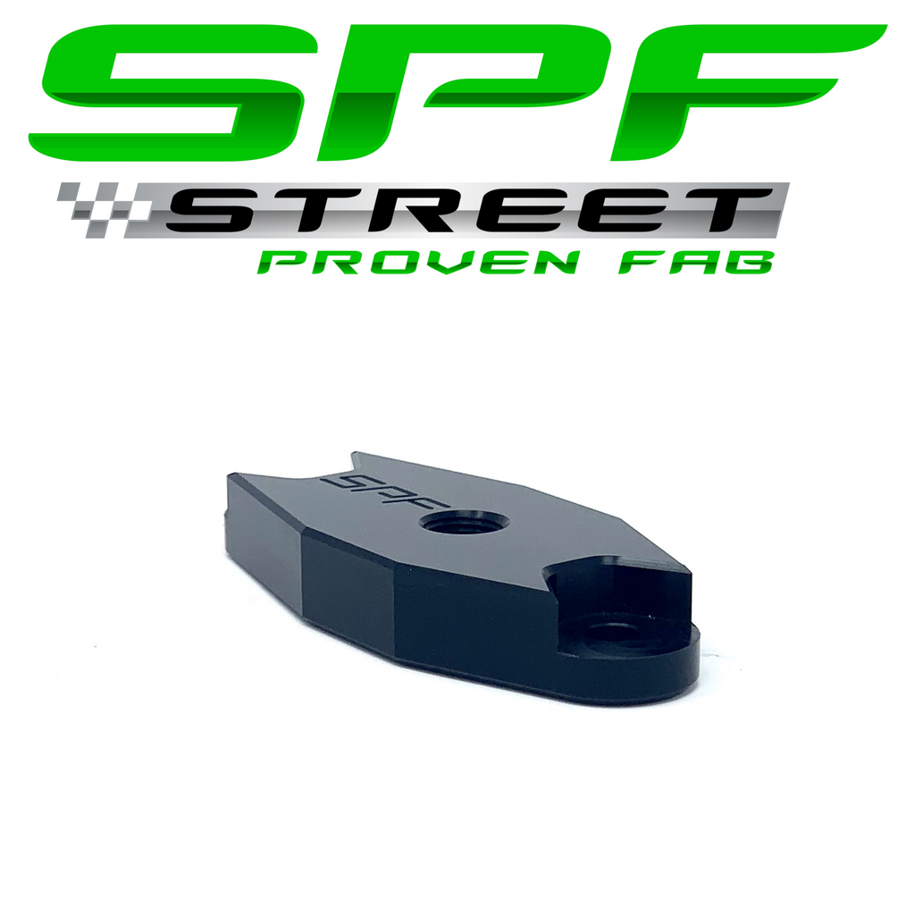 "Street Proven Fab GM Gen 5 LT Turbo Oil Feed Adapter 1/8"" NPT Port BLACK"