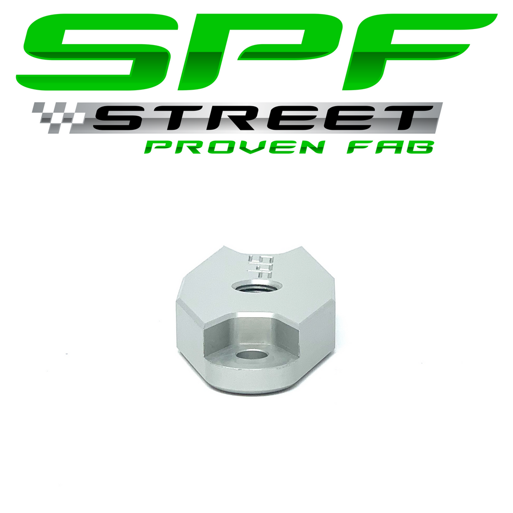 "Street Proven Fab GM Gen 5 LT Turbo Oil Feed Adapter 1/8"" NPT Port NATURAL"