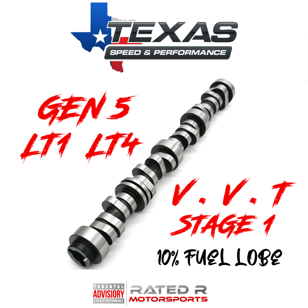 Texas Speed Gen 5 LT1 LT4 6.2L VVT Stage 1 Camshaft 10% Fuel Lobe