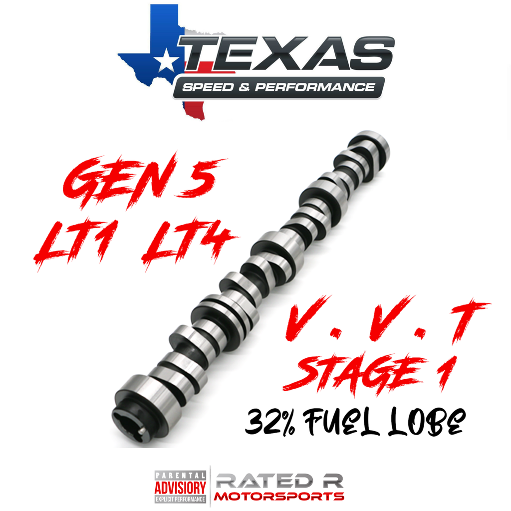 Texas Speed Gen 5 LT1 LT4 6.2L VVT Stage 1 Camshaft 32% Fuel Lobe