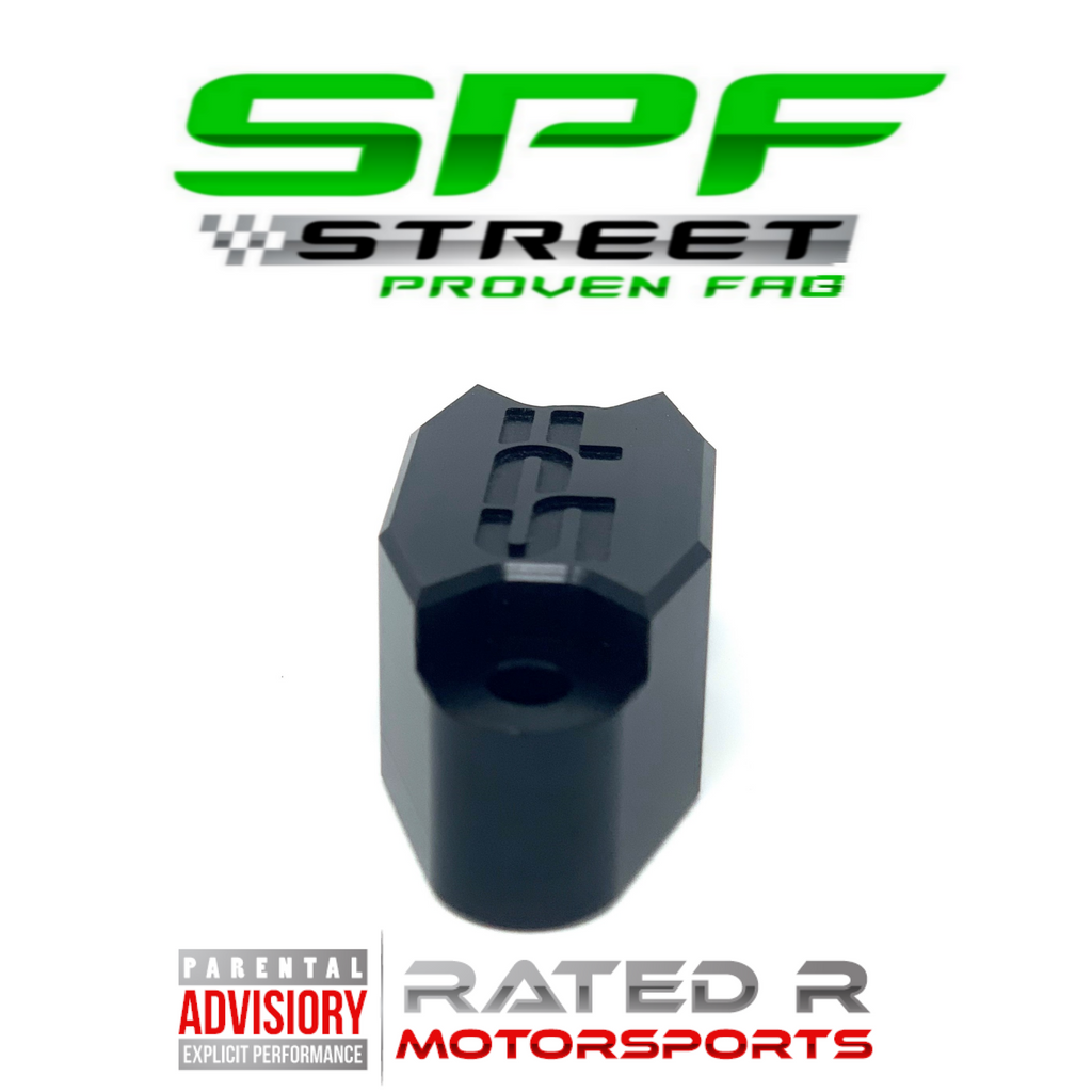 Street Proven Fab LS Oil Pressure Sensor Relocation Adapter M16 Port BLACK