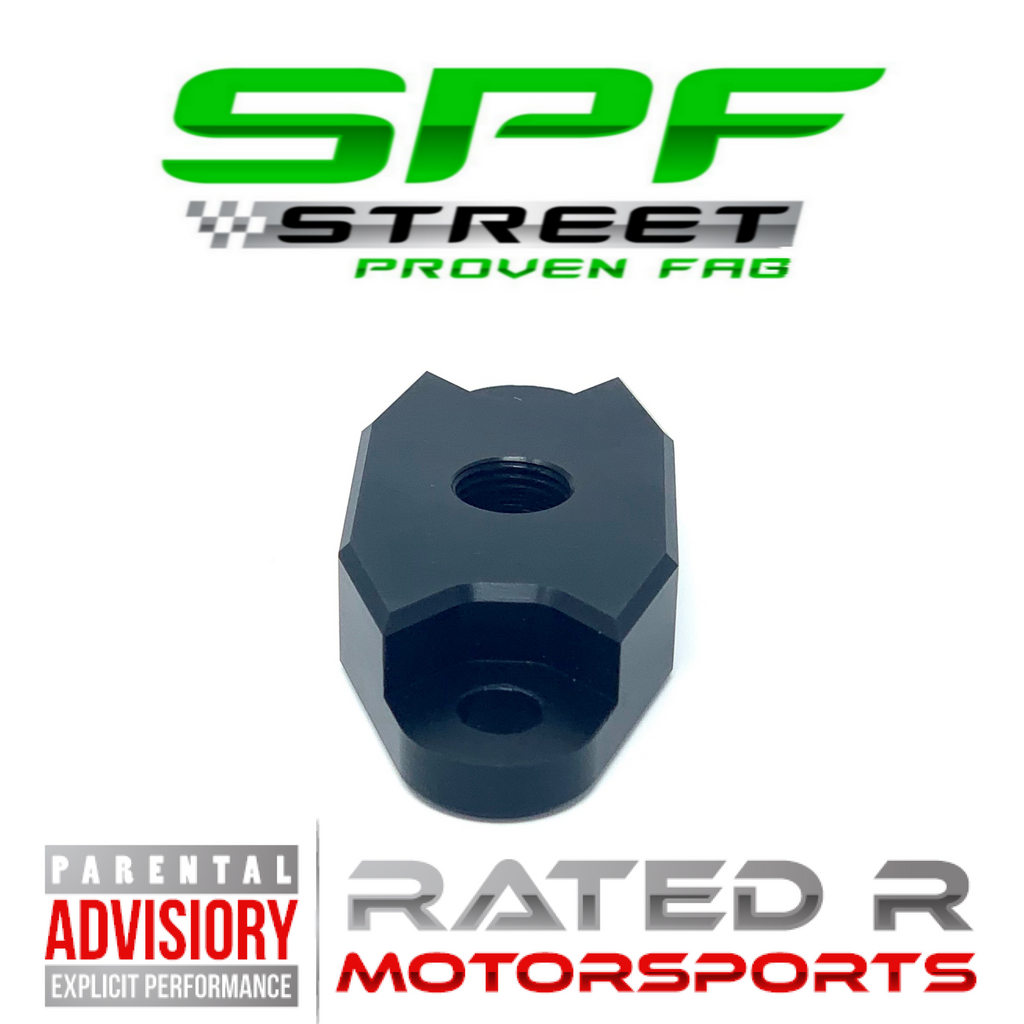 "Street Proven Fab LS Turbo Oil Feed Adapter Plate Single 1/8"" NPT Port BLACK"