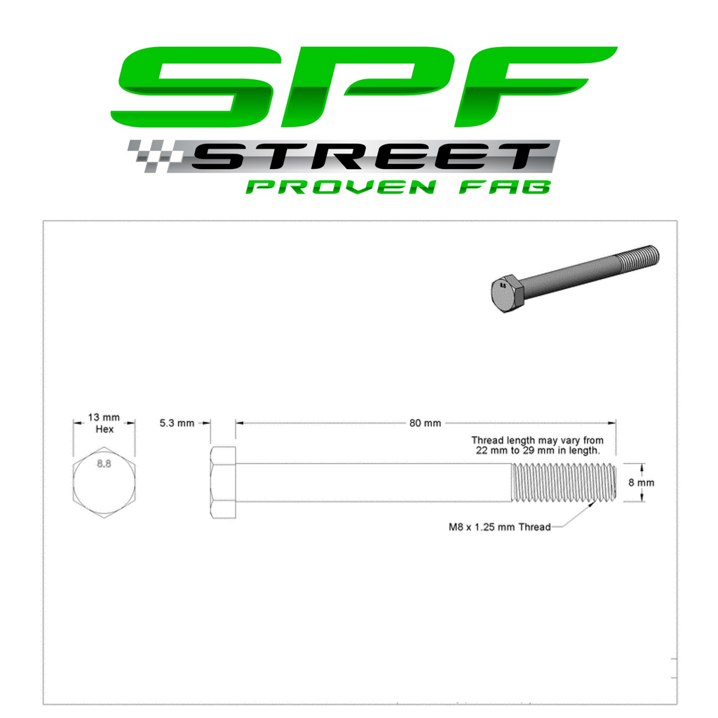 Street Proven Fab GM Gen 3 & Gen 4 LS Water Pump & Thermostat Bolt Kit