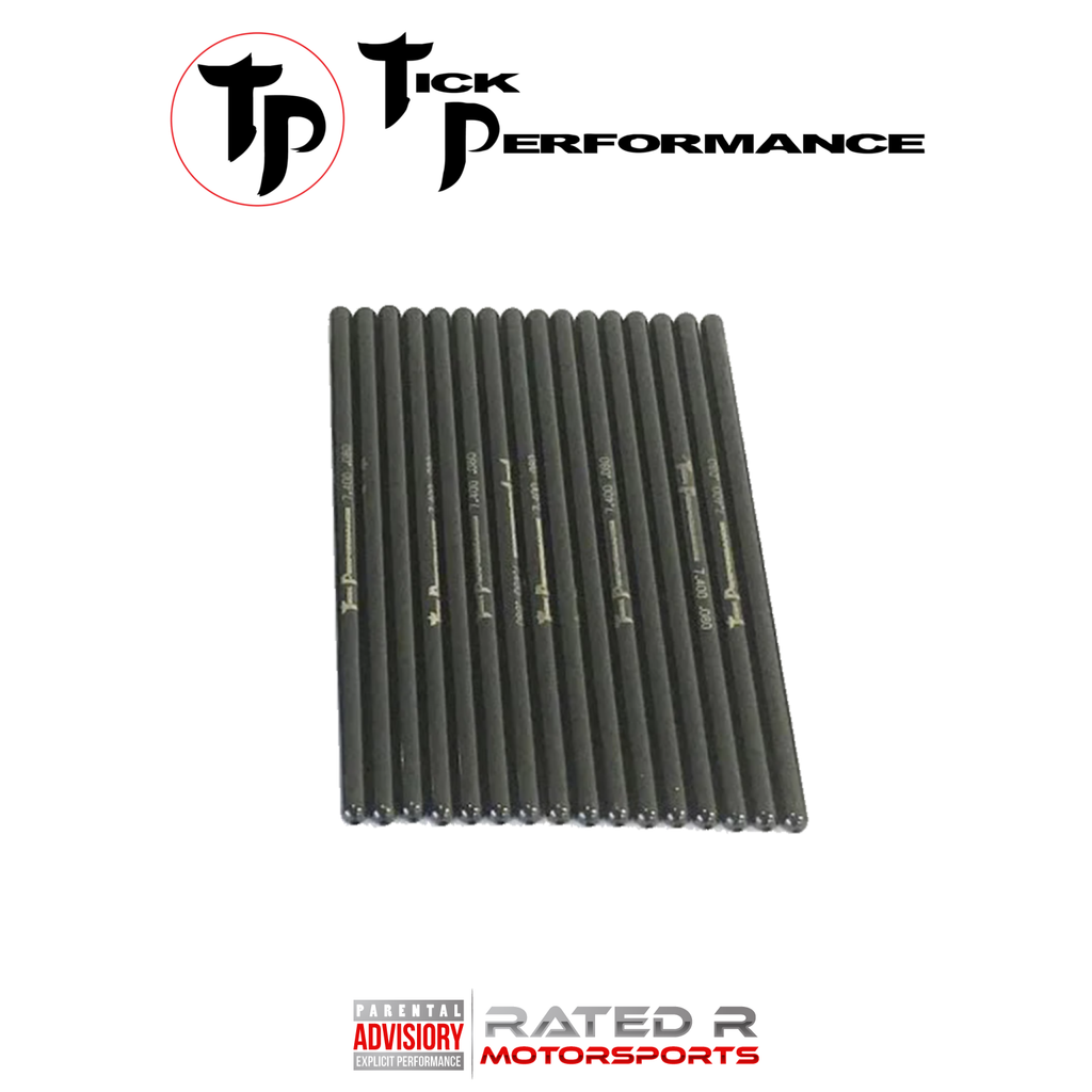 "Tick Performance Chromoly 5/16"" 7.400"" Hardened Pushrod Set LS STANDARD SIZE"