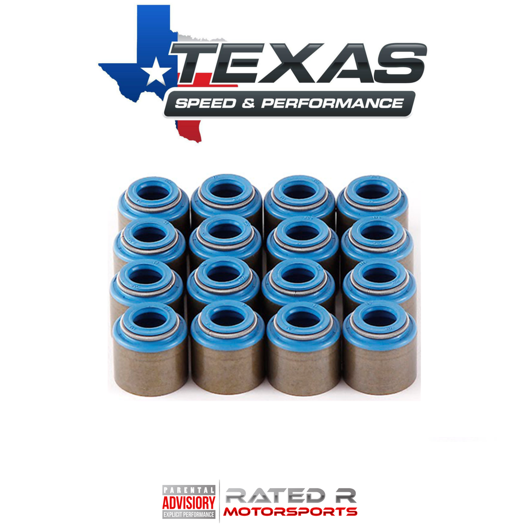 Texas Speed LS Viton Valve Seals For Stock GM Valve Guides Set of 16