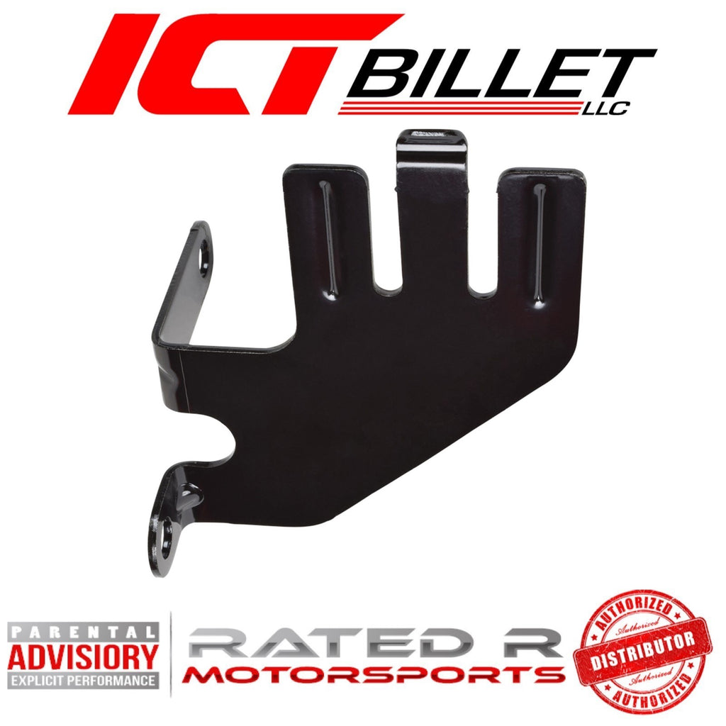 ICT Billet LS AC Delco BRACKET Only for Power Steering Pump Remote Reservoir