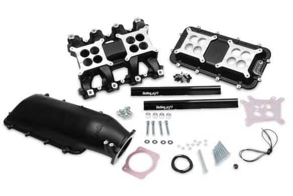 Holley LS1 LS2 Mid-Rise 92mm EFI Intake Manifold Black