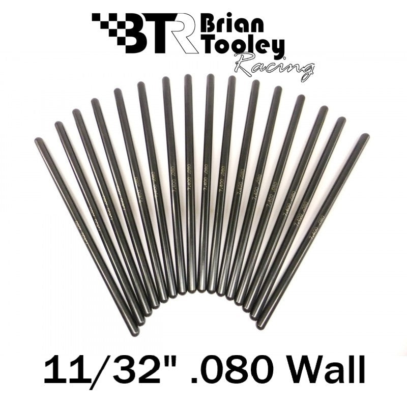 BTR Hardened Pushrod Set 11/32 Diameter .080 Wall