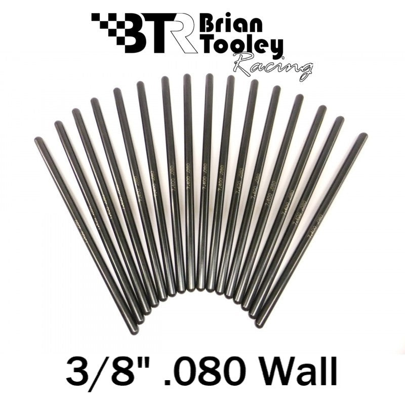 BTR Hardened Pushrod Set 3/8 Diameter .080 Wall