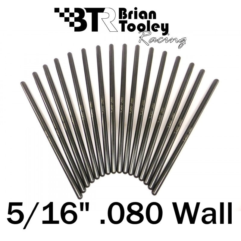 BTR Hardened Pushrod Set 5/16 Diameter .080 Wall