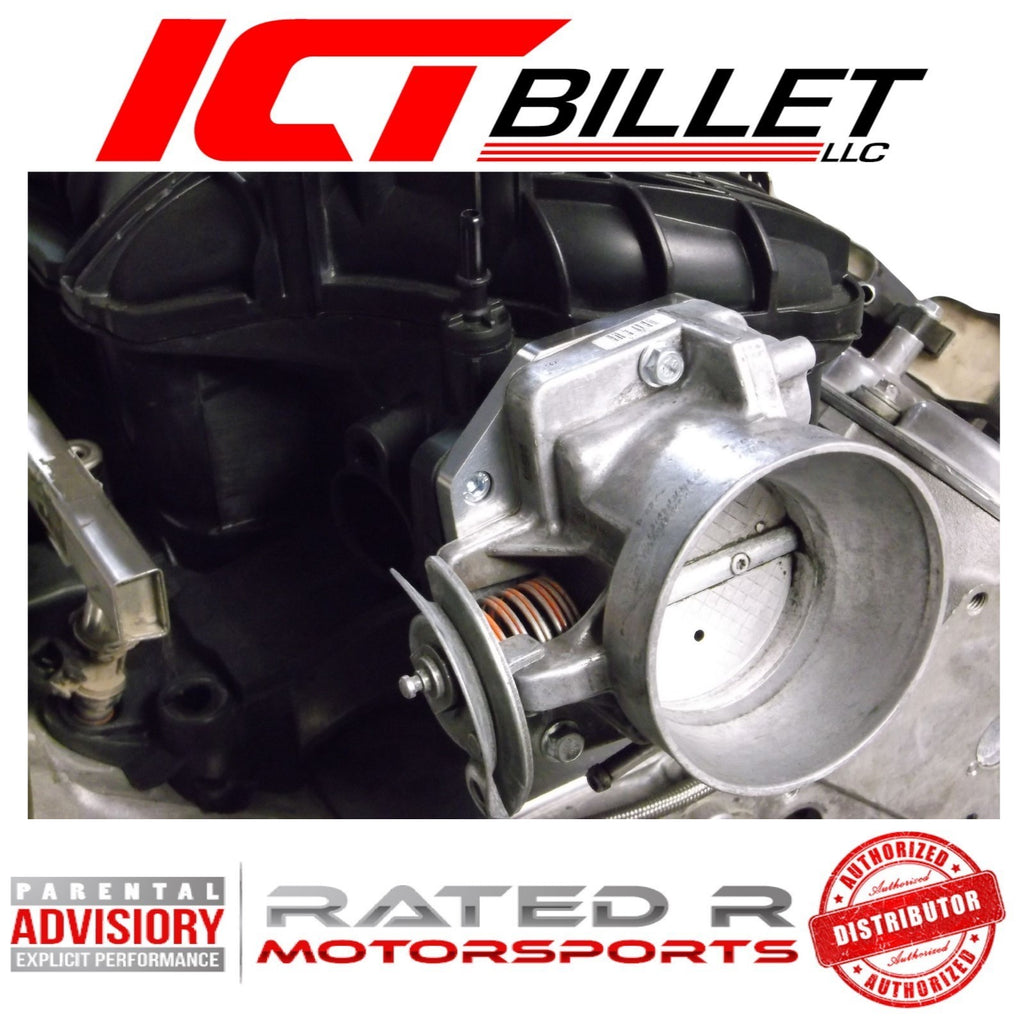 ICT Billet LS Throttle Body Adapter 4 Bolt Intake to 3 Bolt Throttle Body With Gasket
