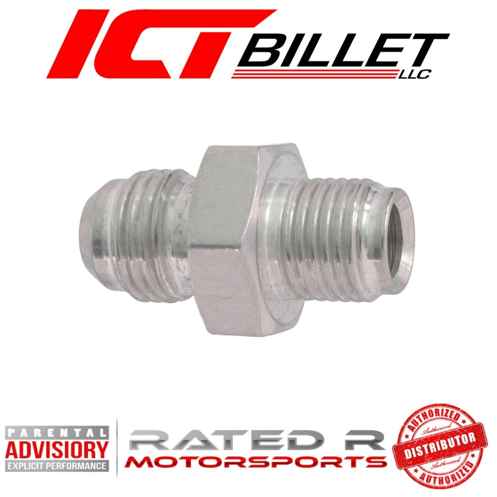 ICT Billet Power Steering Adapter Fitting -6AN Male Flare to 1/2-20 Inverted Flare