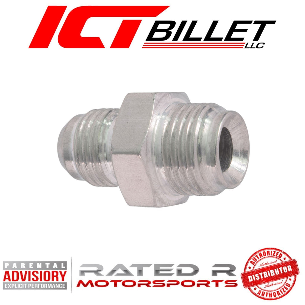 ICT Billet Power Steering Adapter Fitting -6AN Male Flare to 5/8-18 Inverted Flare