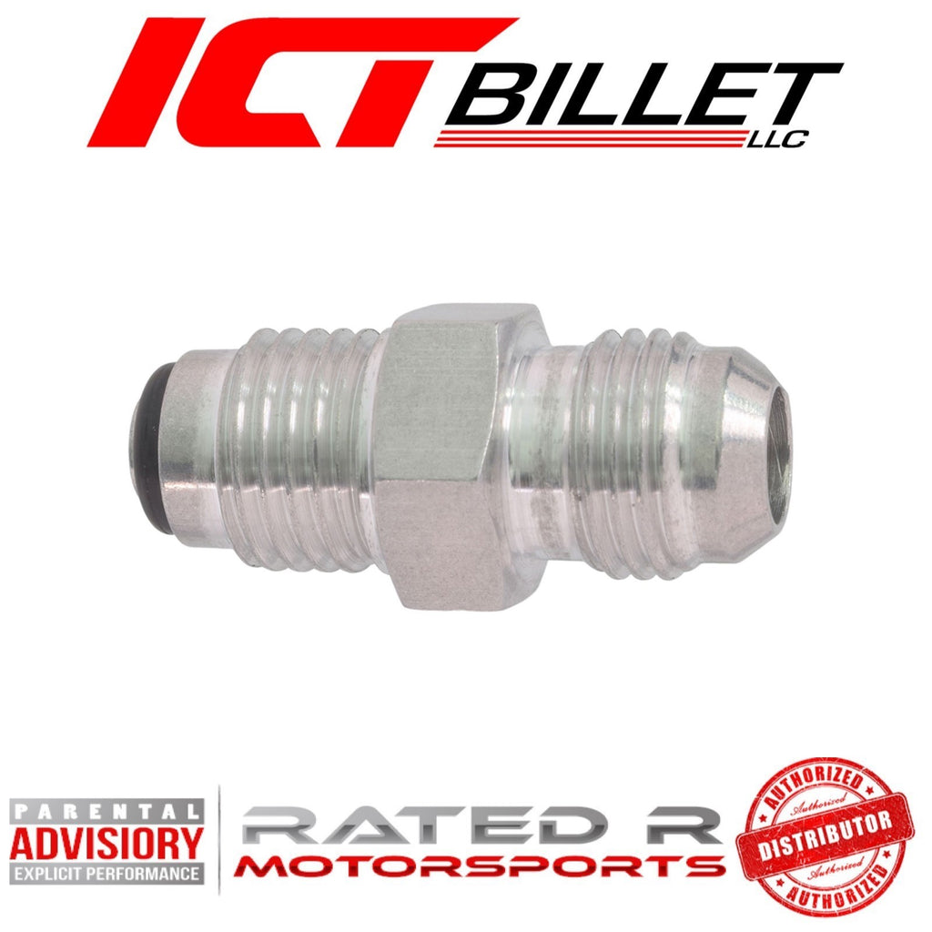 ICT Billet Power Steering Adapter Fitting -6AN Male Flare to M14-1.5 Oring