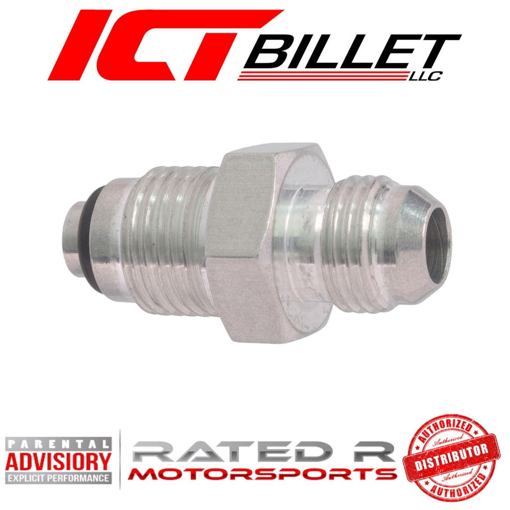ICT Billet Power Steering Adapter Fitting -6AN Male Flare to M16-1.5 Oring