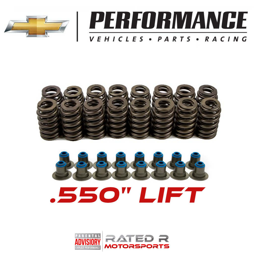 "GM LS .550"" Lift LS6 Beehive Valve Spring Kit With Seals"